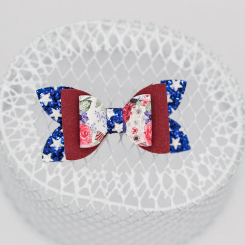 USA floral stars June Bow - LFR