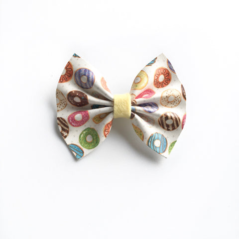 Vegan leather donut bow - restock