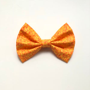 Bright orange fall floral bow