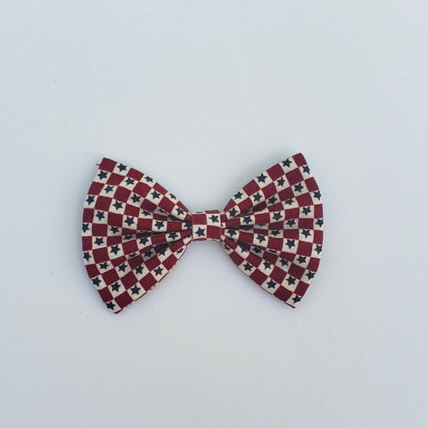 Vintage Stars and squares  classic bow