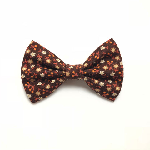 3 inch fall brown floral bow