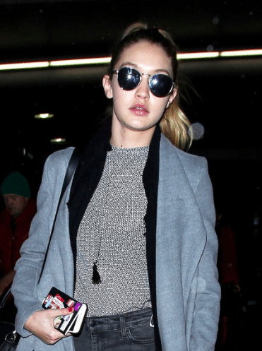 Celebrity Sighting: Gigi Hadid wearing S14 // Silver Mirror