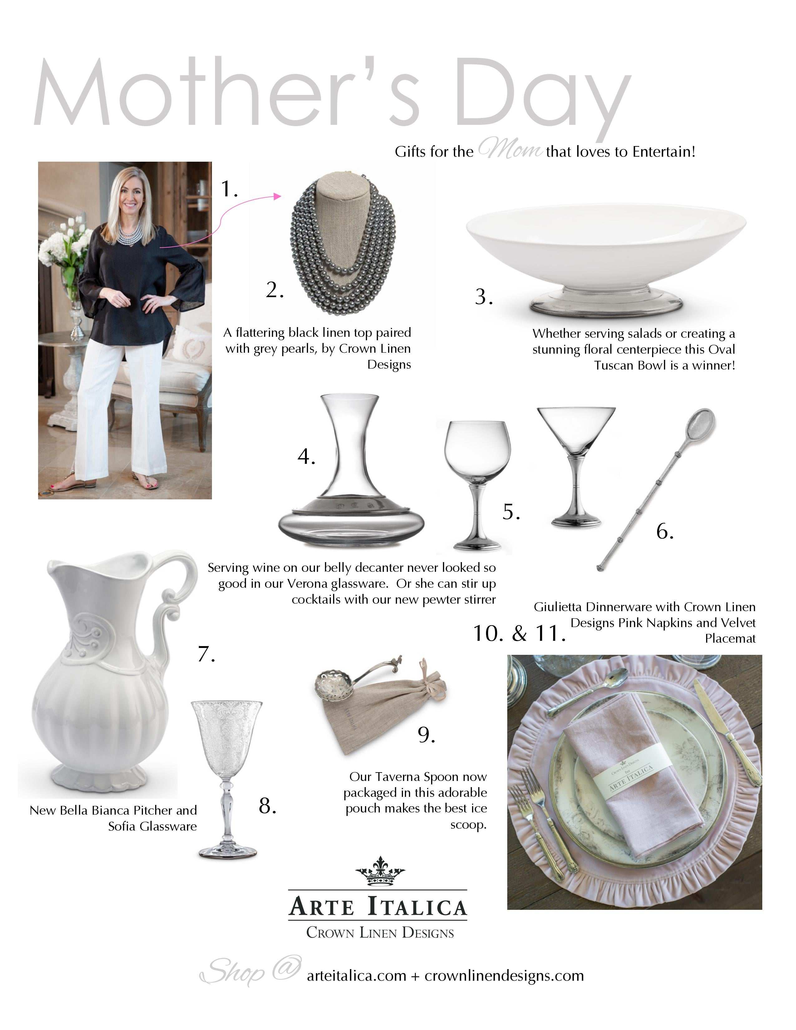 Crown Linen Mother's Day Gift Guide 1