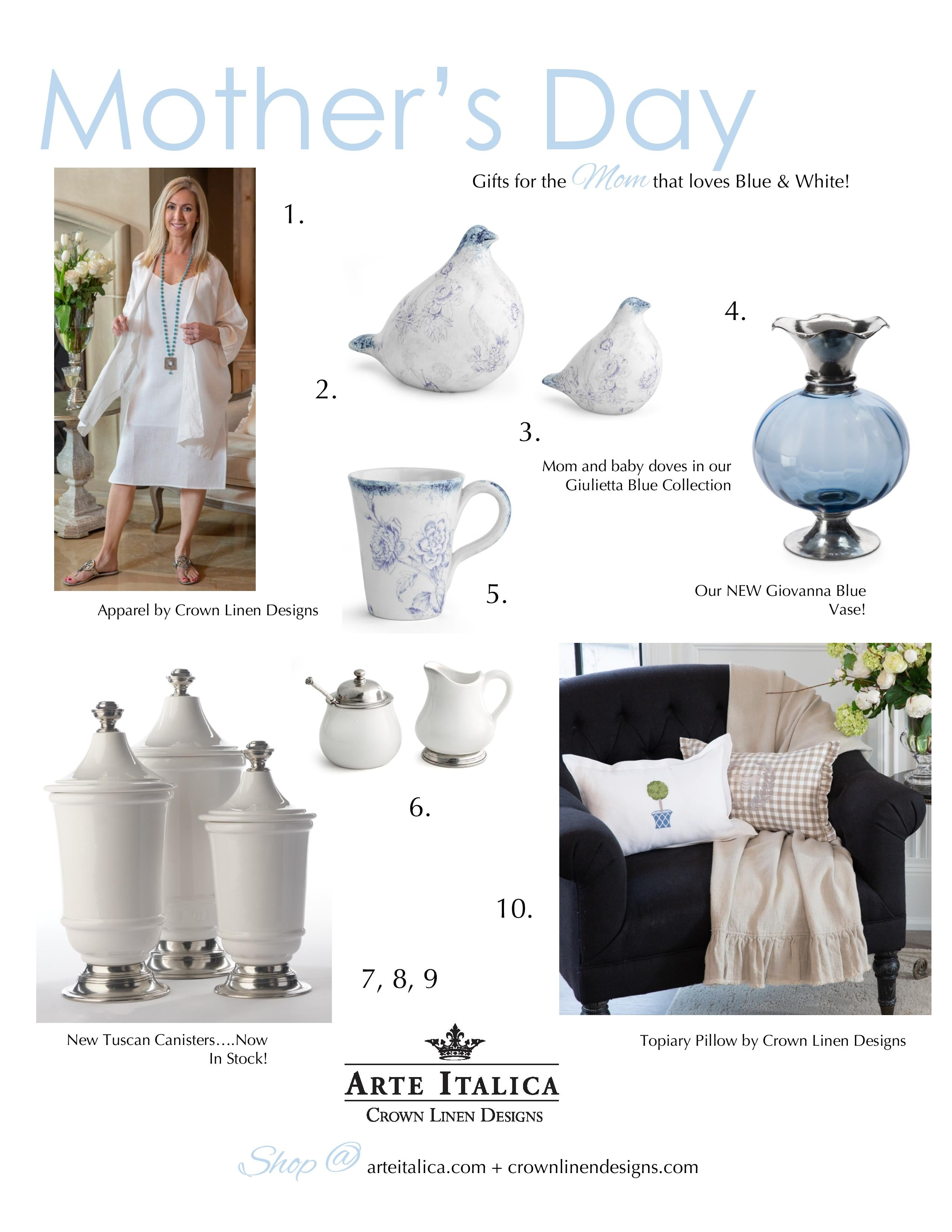 Crown Linen Designs Mother's Day Gift Guide 3