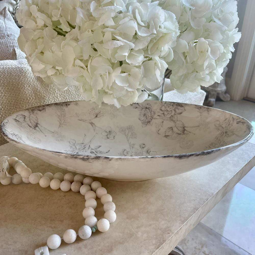 Crown Linen Designs Arte Italica Giulietta Oval Serving Bowl