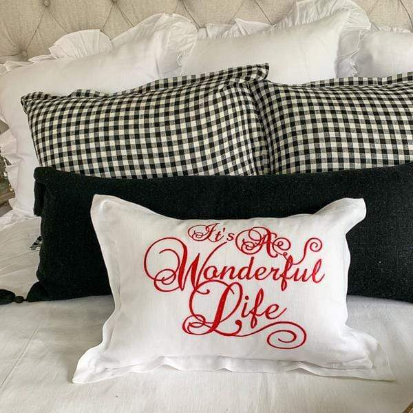 Crown Linen Designs Decor Pillows It's A Wonderful Life Linen Decor Pillow