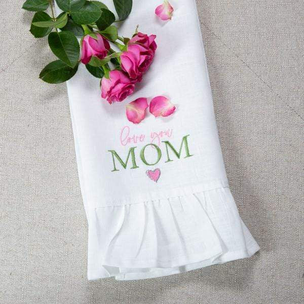 Crown Linen Designs Love You Mom Linen  Towel