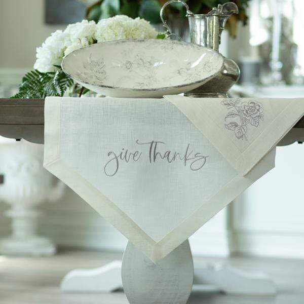 "Crown Linen Designs Table Runners Give Thanks Table Runner - 22"" Wide"