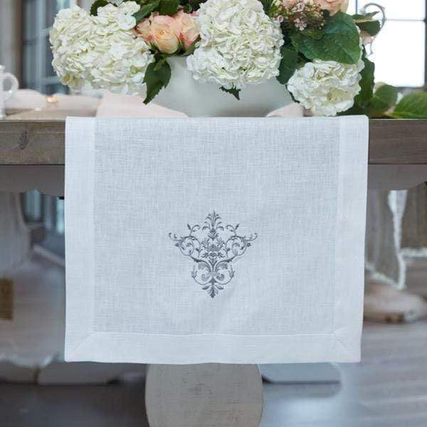 "Crown Linen Designs Table Runners 70"" Victorian Table Runner - 17"" Wide"