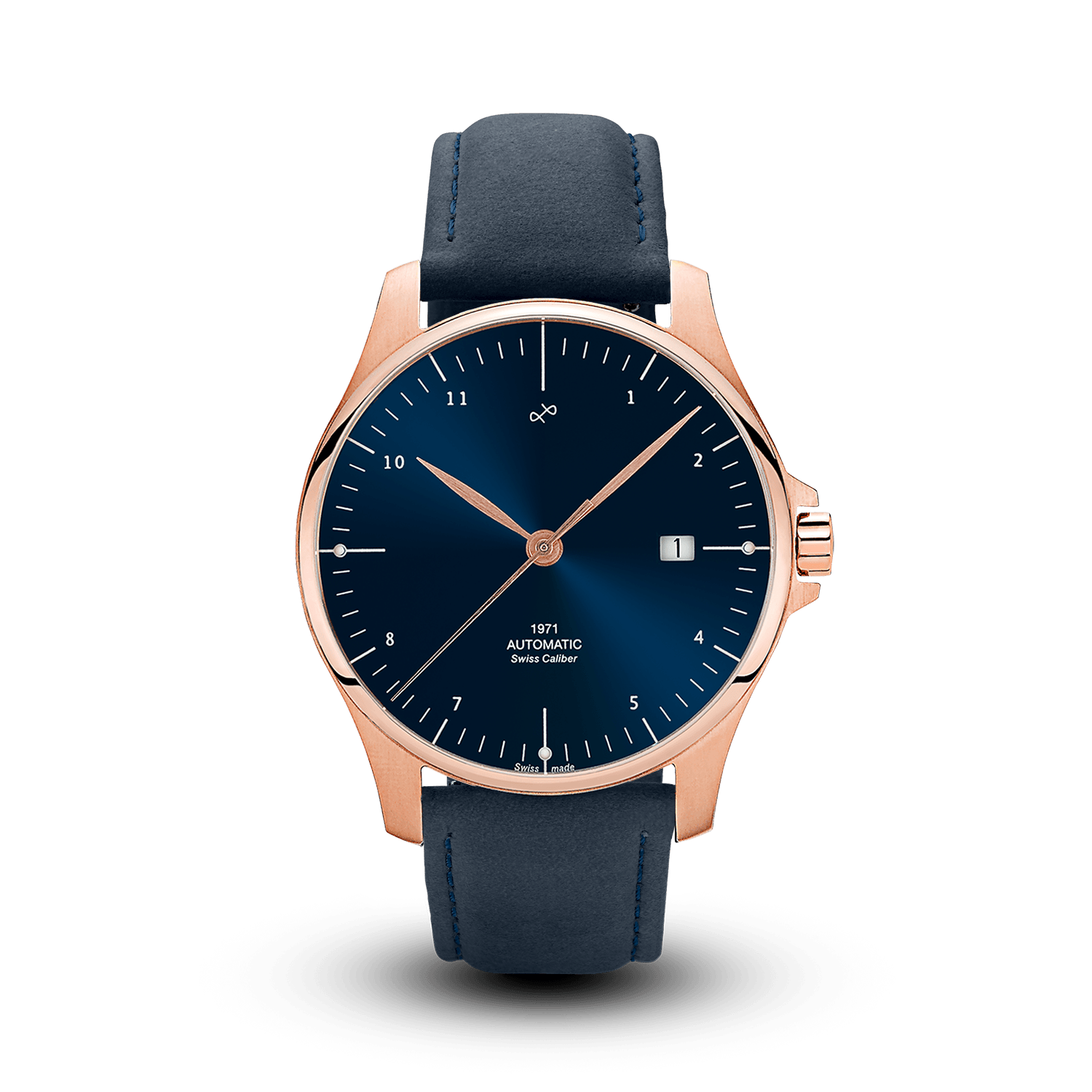 1971 Automatic, Rose Gold / Night Blue - Swiss Made (786935742512)