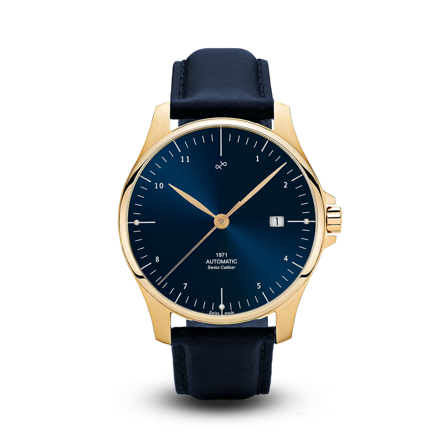 1971 Automatic, Gold / Night Blue - Swiss Made (786929614896)