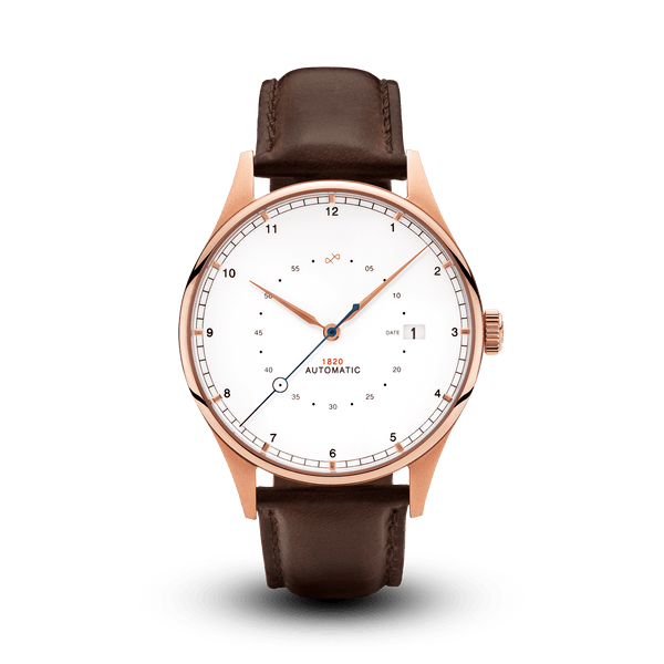 1820 Automatique, Rose Gold / White