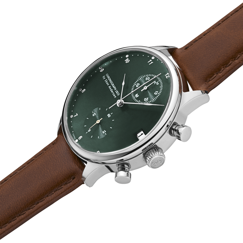 1815 Chronograph, Steel / Green Sunray