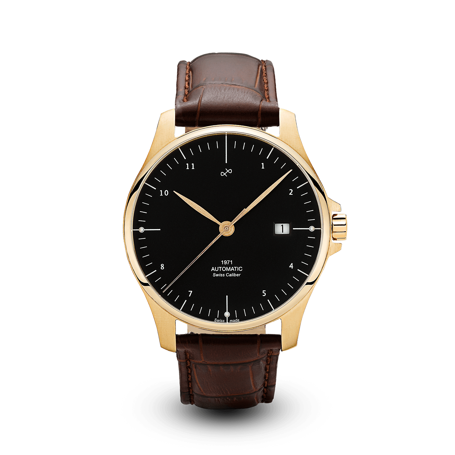 1971 Automatic, Gold / Black - Swiss Made (667355742256)