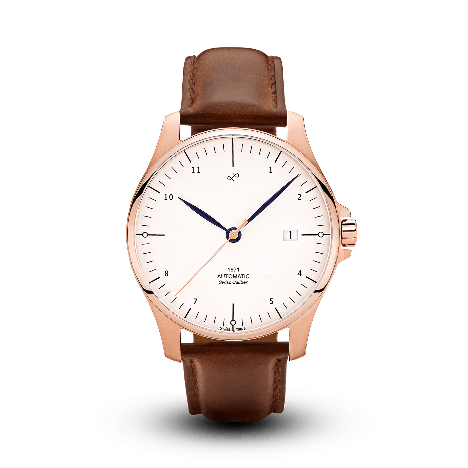 1971 Automatic, Rose Gold / White - Swiss Made (667356594224)