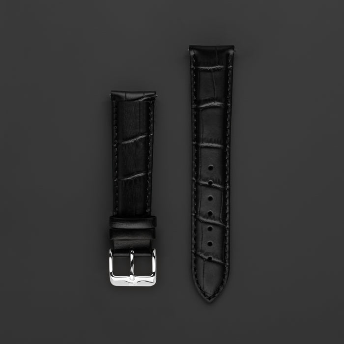 Pin Buckle - Black Croco