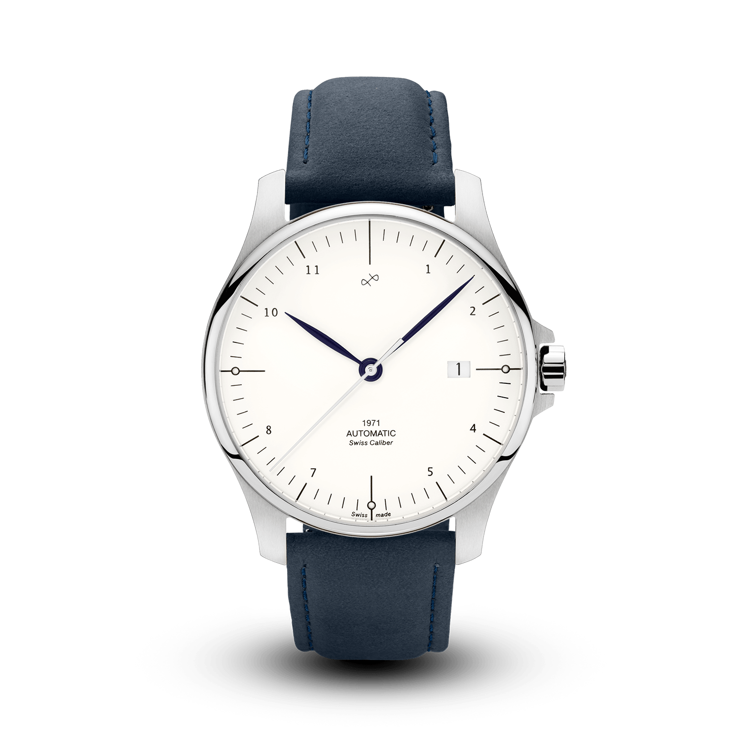 1971 Automatic, Steel / White - Swiss Made (667357184048)