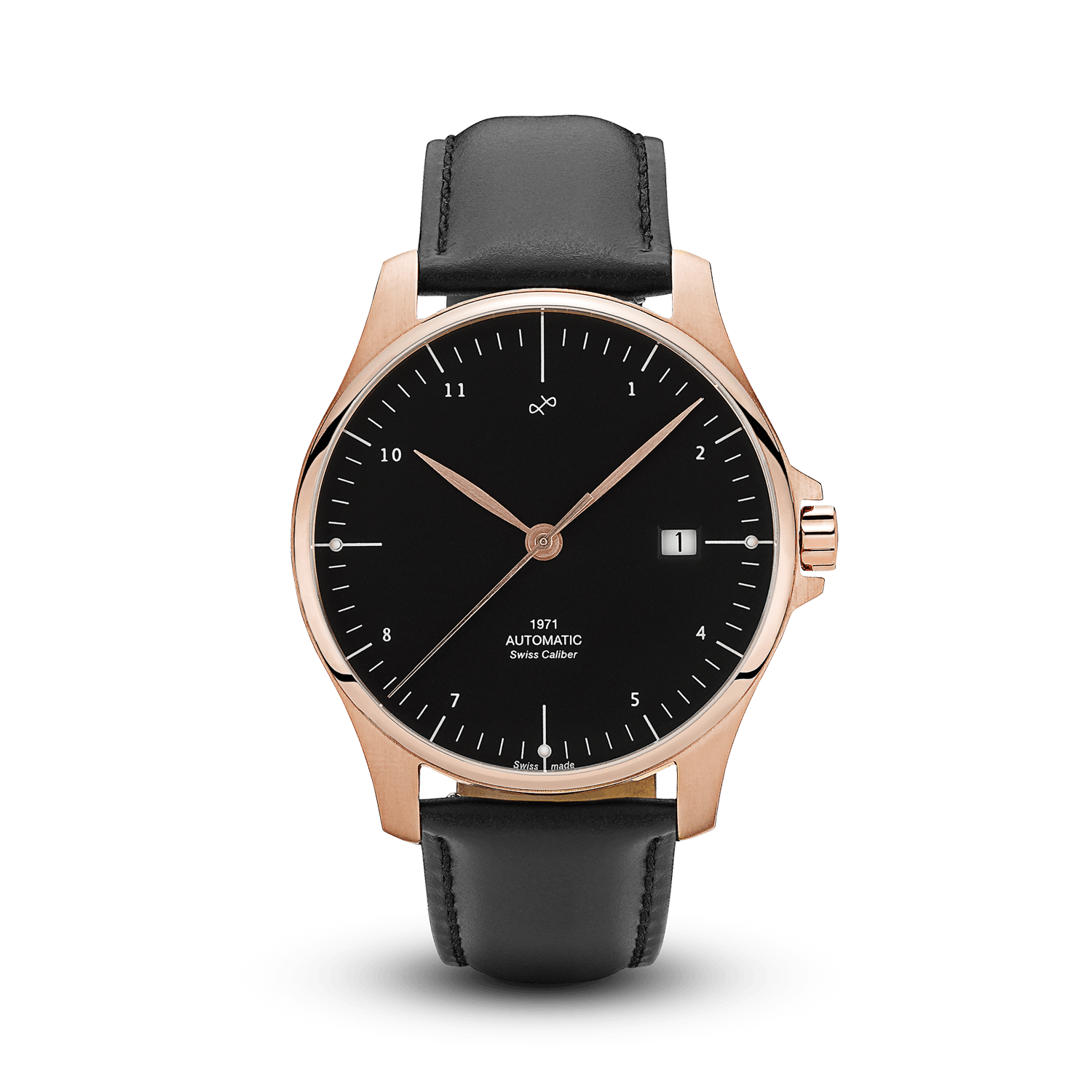 1971 Automatic, Rose Gold / Black - Swiss Made (667356430384)