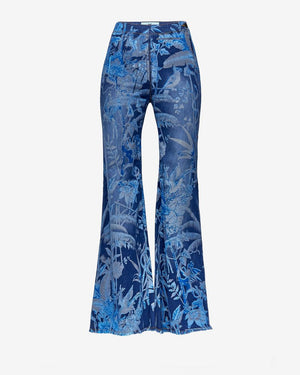 Milly Floral Denim Bellbottoms