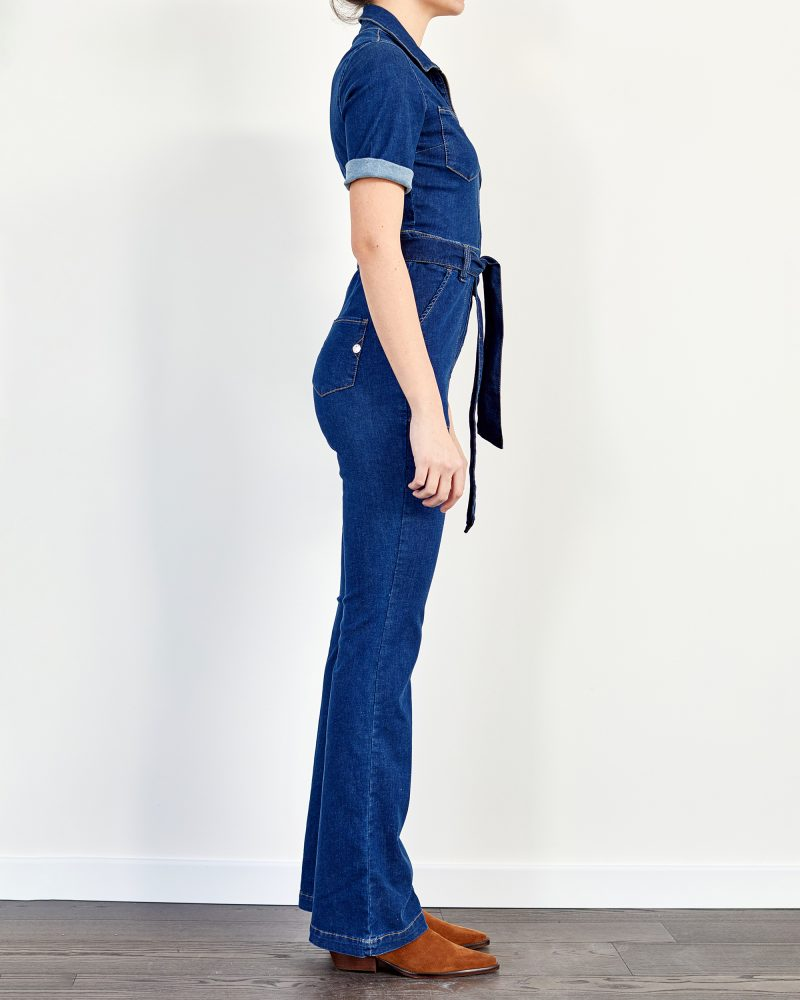 Bootcut Denim Jumpsuit