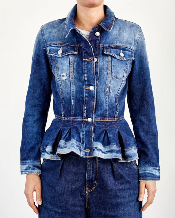 !!! Rouche Denim Jacket