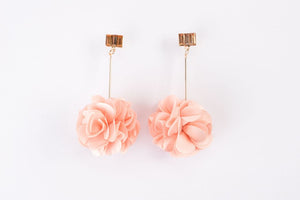 Olivia Crystal Bar Fluff Earrings