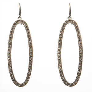 !!! Open Oval Drop Earrings