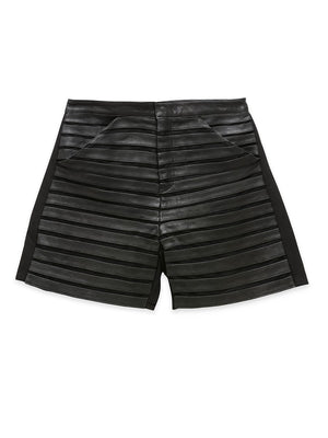 !!! Krista Leather Shorts