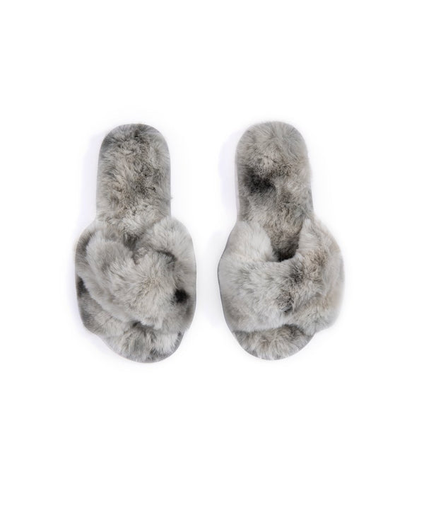 Stowe Gray Tie-Dye Slippers