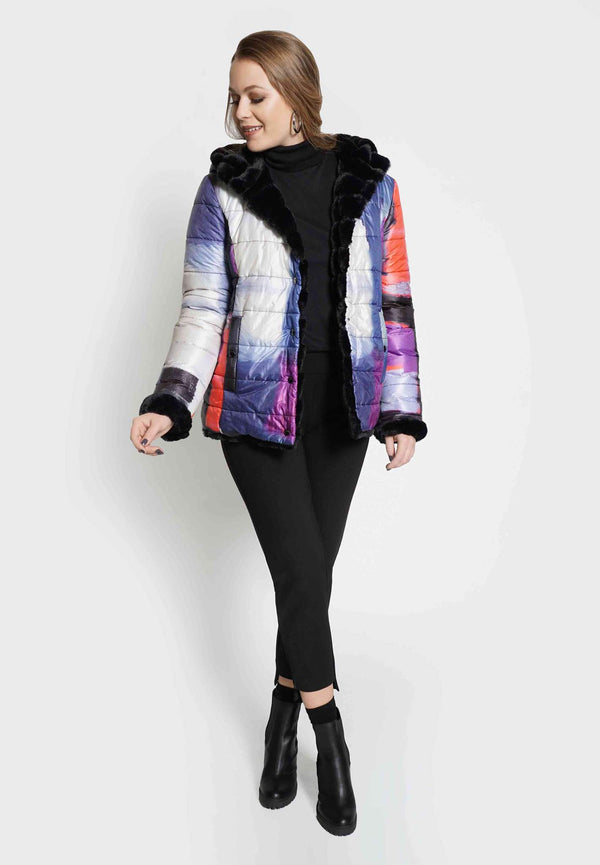 Reversible Faux Fur Jacket