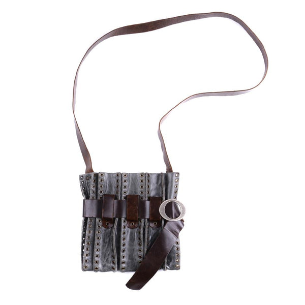 Leather Eyelet Strapped Bag