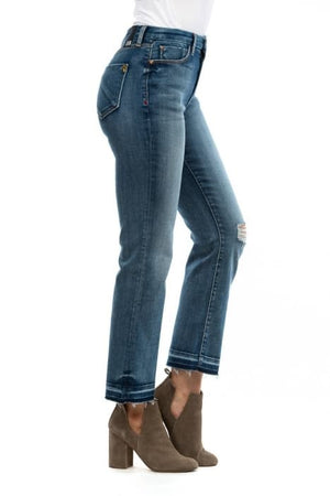 Graceful Crop Flare Jeans