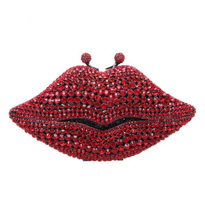Crystal Red Lips Clutch
