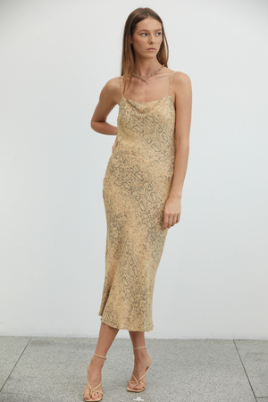 Animal Instincts Bias Slip Dress
