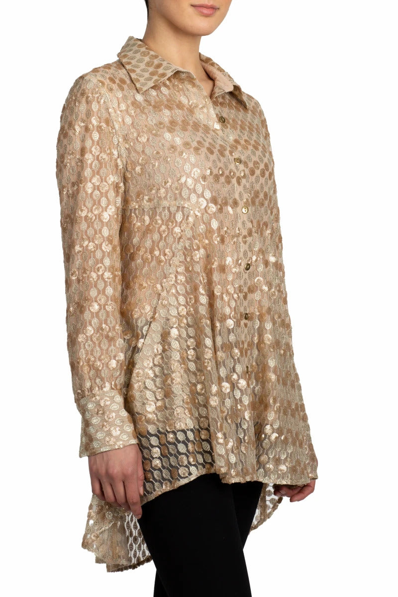 Golden Teardrop Tunic