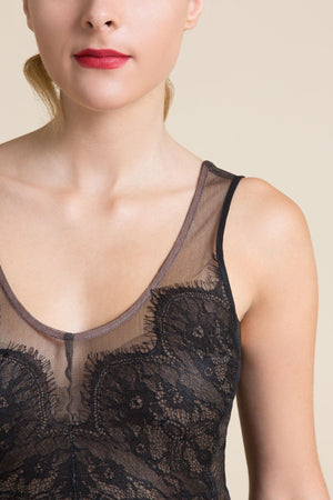 Black Chantilly Lace Tank