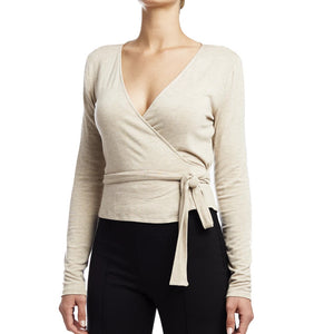 !!! Ballet Wrap Sweater