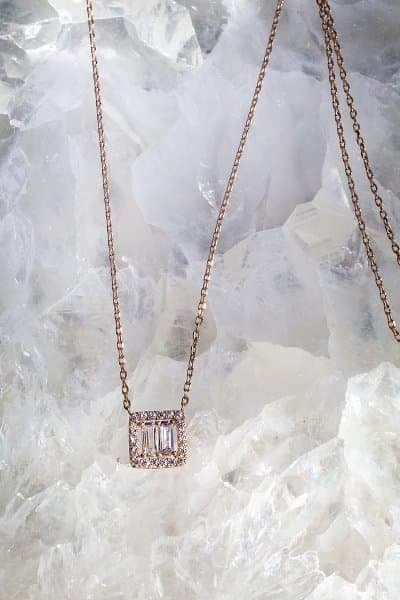 BELLE Necklace in 14K Rose Gold Vermeil