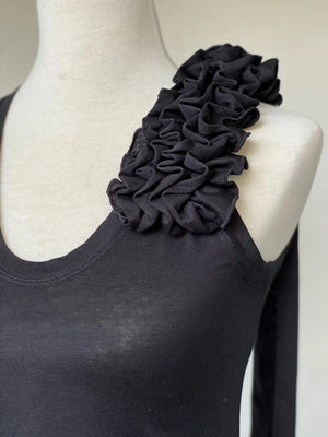BENNI Knit Corsage Tank Top - Black