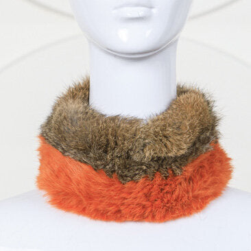 Two-Toned Knitted Rabbit Headband/Neck Warmer