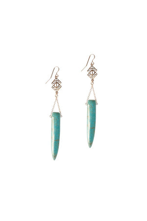 !!! Dusty Rose Turquoise Earrings