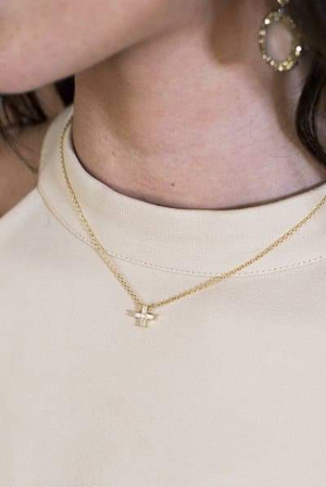 HARMONY CROSS in 14K Gold Vermeil Necklace