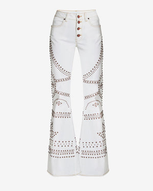 Lara Drill Superstudded Jeans
