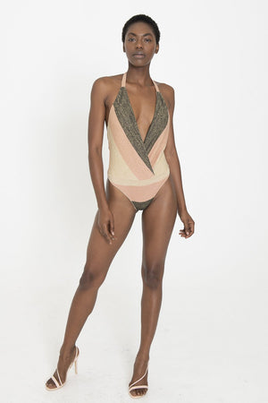 MONA Metallic Multicolored Bodysuit