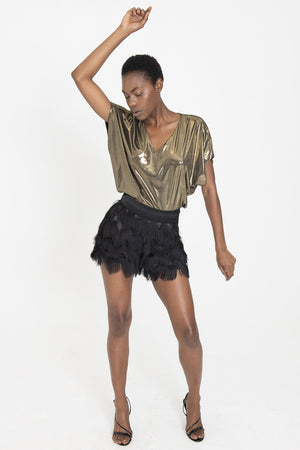 !!! SHAE Black Fringe Shorts
