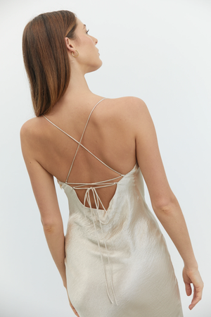 River Bed Bias Lace Back Slip