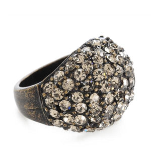 Black Diamond Dome Ring