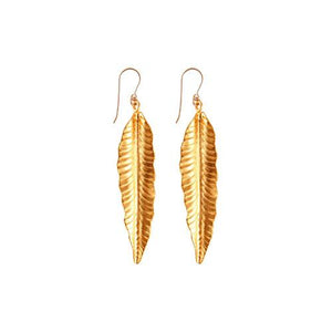 !!! Gold Feather Earrings