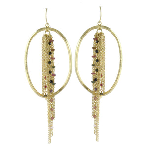 RUBY B BEADED FRINGE AND LOOP EARRINGS