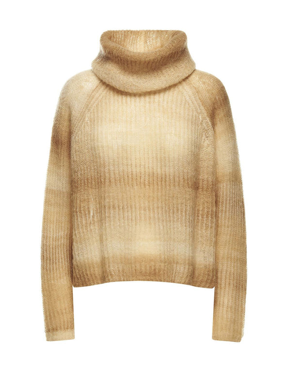 Gradient Yellow Mohair Sweater